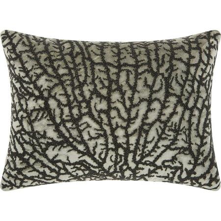 Nourison Luminecence Beaded Coral Grey/Black Throw - Cheap Throw Beads