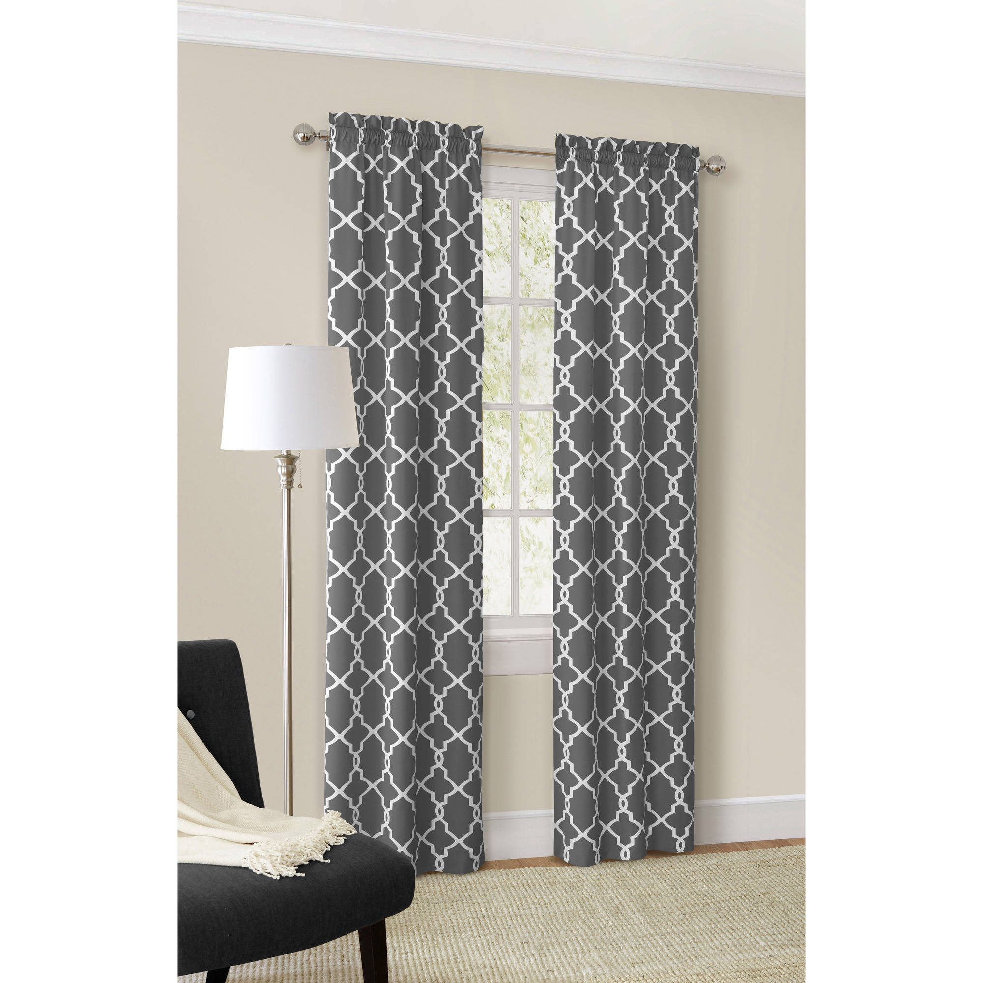 Mainstays Calix Fashion Window Curtain Set Of 2 Walmartcom