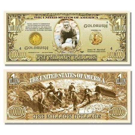 "5 Gold Rush Million Dollar Bills with Bonus ""Thanks a Million"" Gift Card"