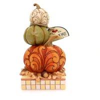 Jim Shore PUMPKIN SPICE & EVERYTHING NICE Polyresin Stacked Pumpkins 4058841