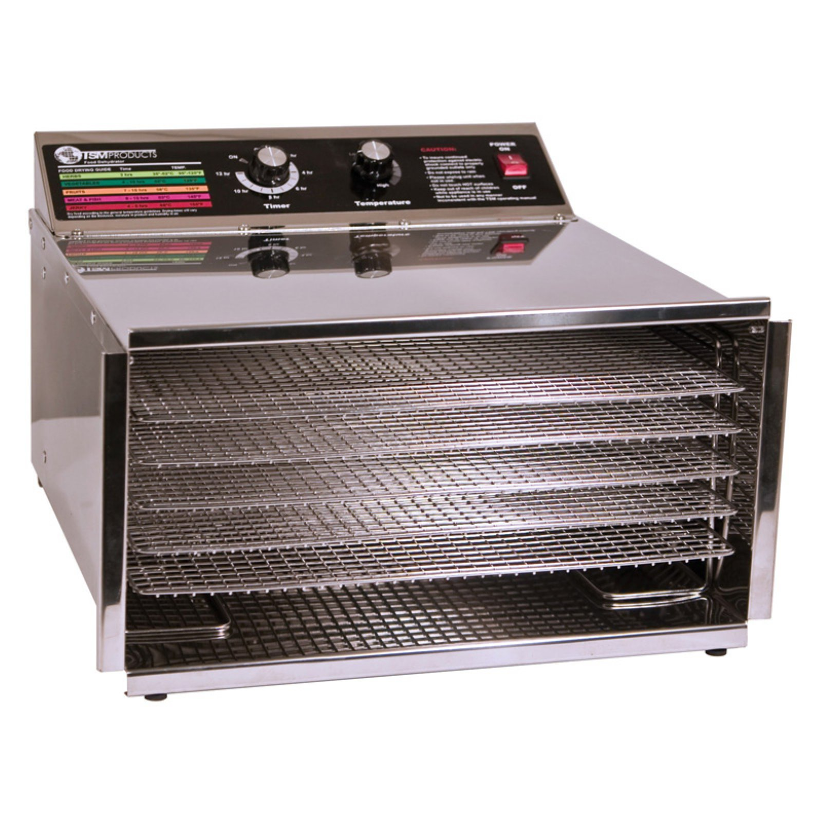 TSM 32603 5 Tray D5 Stainless Steel Dehydrator with Stainless Steel Shelves