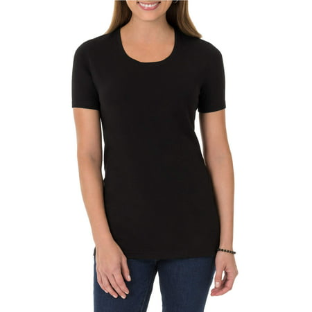 Time and Tru Women's Essential Short Sleeve Crewneck T-Shirt for $<!---->