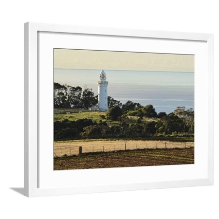 Lighthouse Wall Table (Lighthouse, Table Cape, Tasmania, Australia, Pacific Framed Print Wall Art By Jochen Schlenker)