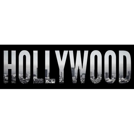 Hollywood Cityscape Poster Print by Emily - Hollywood Cityscape