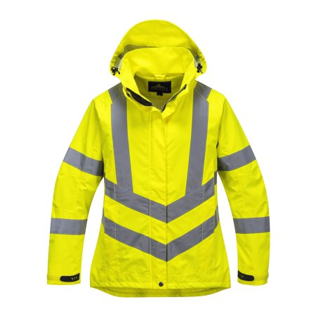 Portwest LW70 Women's High Visibility (Hi Vis) Waterproof Jacket - Small
