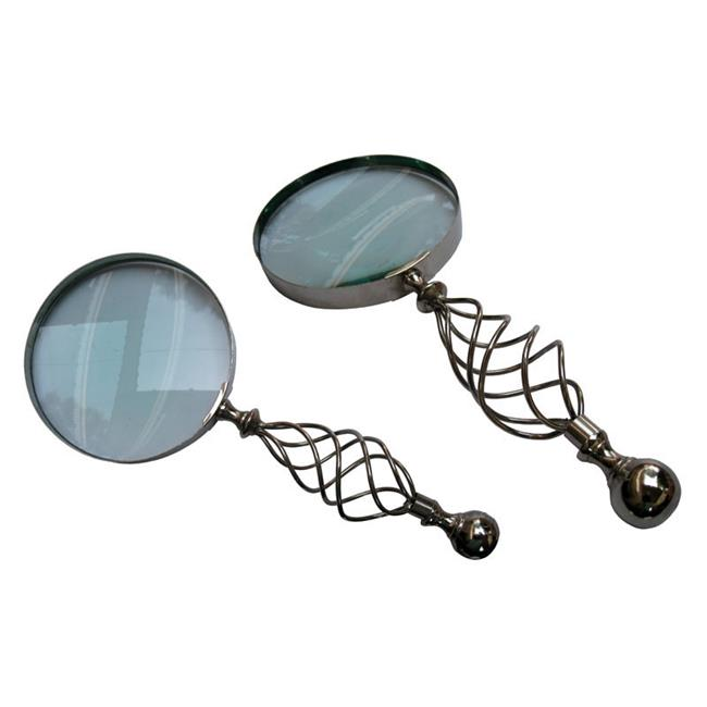 Old Modern Handicrafts ND040 Magnifier in wood box- 5 inches