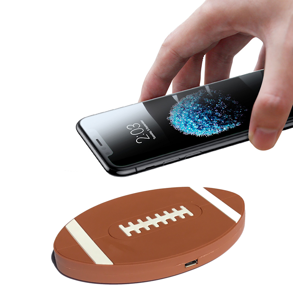 Football Design Qi Wireless Charger Charging Pad