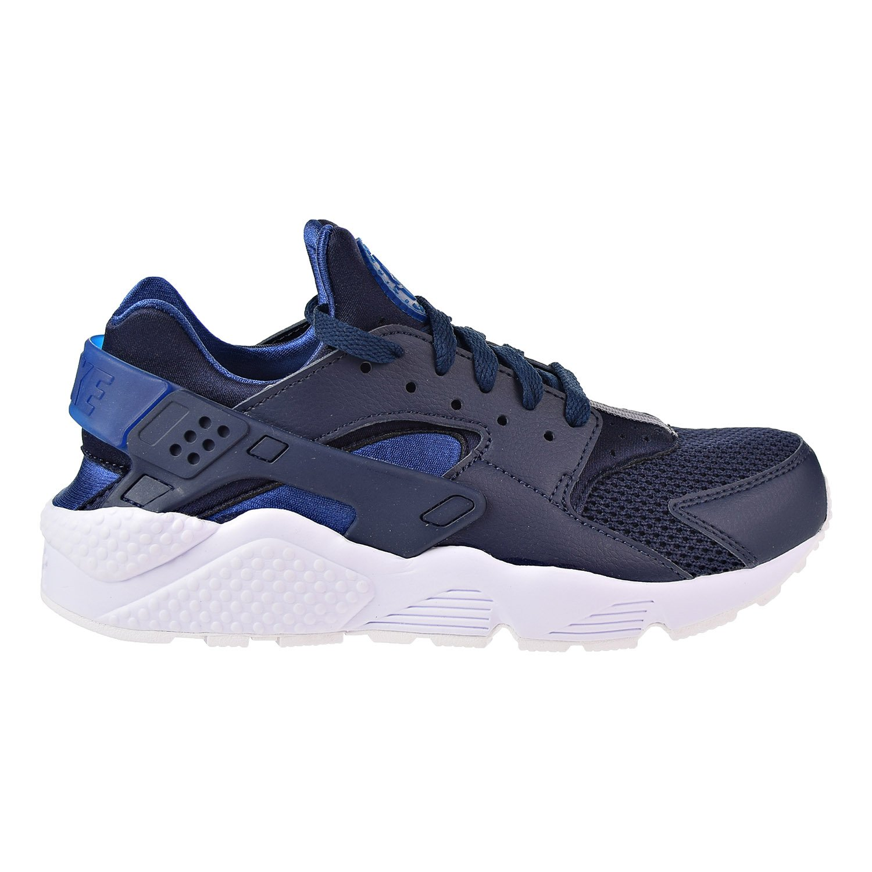 b9850b6fed6f Nike 318429-420  Air Huarache Mens Black Blue White Sneakers (9.5 D(M) US  Mens)