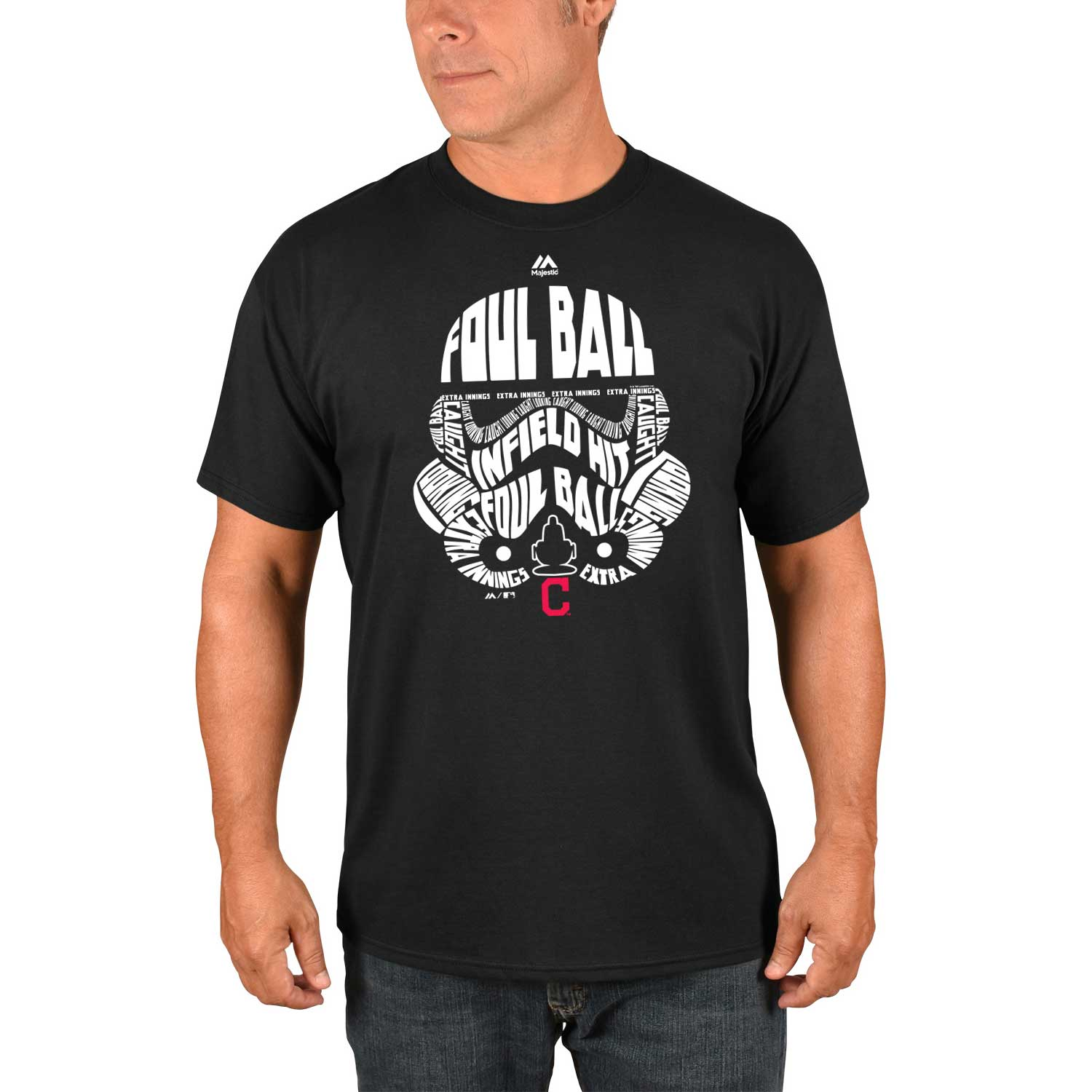Cleveland Indians Majestic Storm Trooper T-Shirt - Black