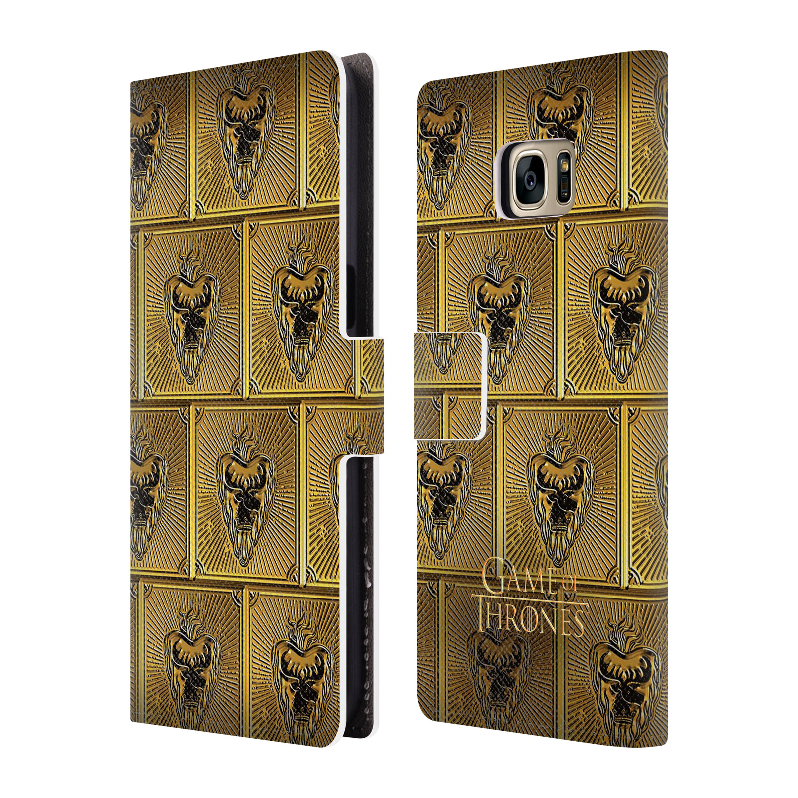 OFFICIAL HBO GAME OF THRONES GOLDEN SIGILS LEATHER BOOK WALLET CASE COVER FOR SAMSUNG PHONES 1