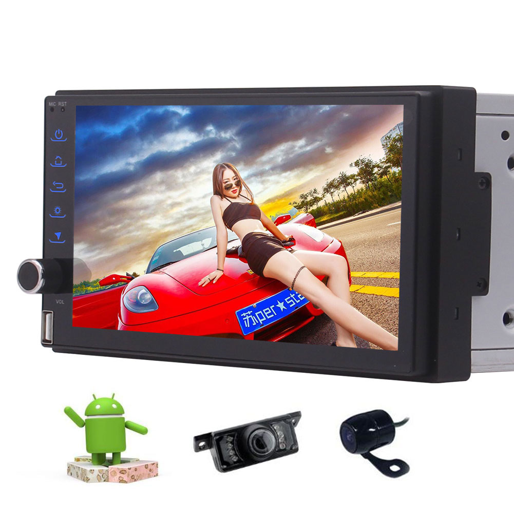 Front & Backup Camera included! Octa Core Android 7.1 Car GPS Video Player Double Din Car Stereo with GPS... by EinCar