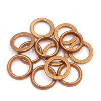 12Pcs 30mm OD Metal Motorcycle Exhaust Pipe Muffler Flange Gasket for GY6 125cc