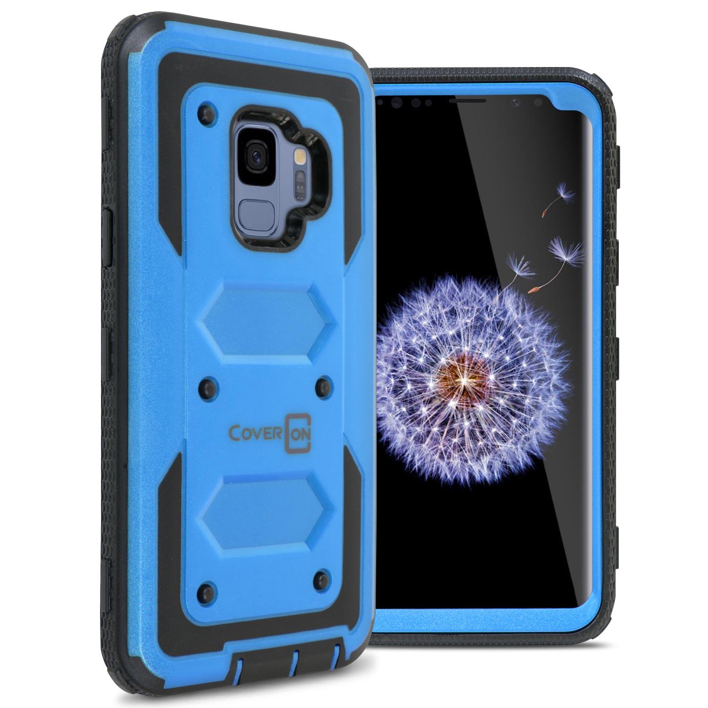 CoverON Samsung Galaxy S9 Case, Tank Series Hard Protective Armor Phone Cover