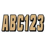 HARDLINE PRODUCTS GBRBLK320 Number and Letter Combo Kit,Beige