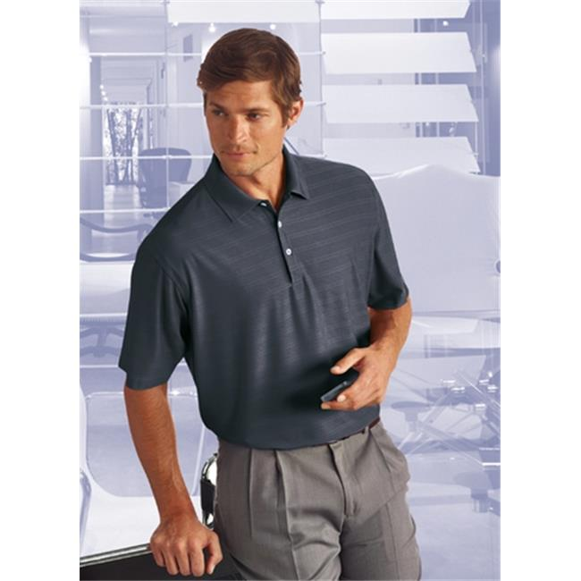 Bermuda Sands 795 Mens Cypress Comfort Stretch Textured Polo - Graphite, Extra Large