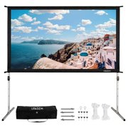 "Ktaxon 100"" 16:9 Outdoor Indoor Portable Projector Screen with Aluminum Support Stand"