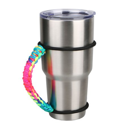 Parachute Cord Handmade Anti-slip Double Wrapped Handle for 30oz Yeti Ritc Ozark Tumbler Rambler Cup Holder - Paper Tea Cups With Handles