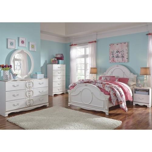 Ashley Korabella 6 Piece Wood Full Panel Bedroom Set in White