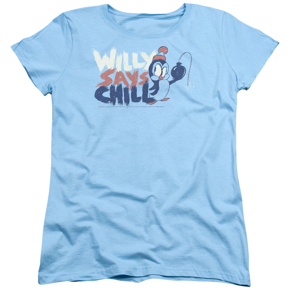 Chilly Willy Penguin Funny Cartoon Character I Say Chill Women's T-Shirt Tee