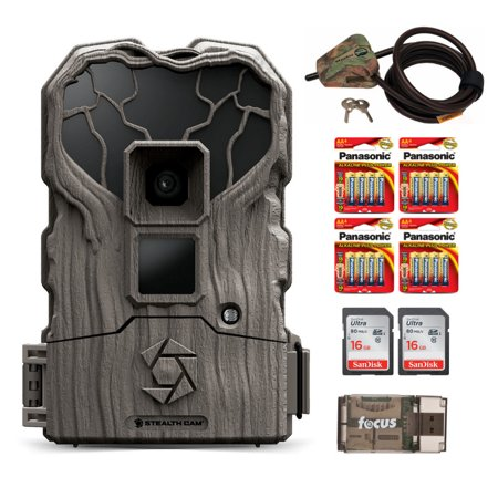 Stealth Cam QS12X 14MP IR Trail Camera w/ 2 Memory Cards (16GB) & Locking Cable ()
