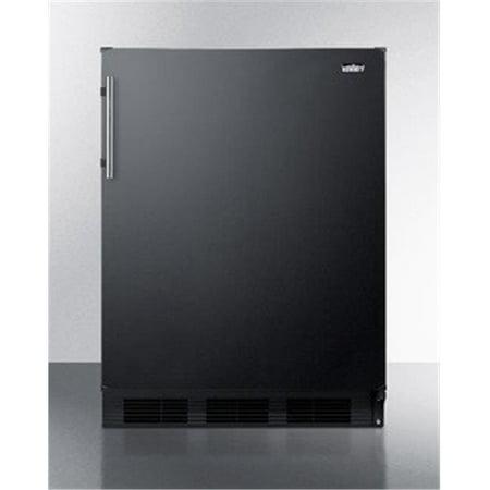 Summit Appliance FF63B 24 in. Freestanding Compact Refrigerator, Black