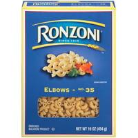 Ronzoni Elbow Macaroni No. 35 Pasta, 16 ounce box
