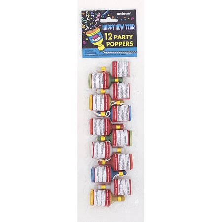 12 New Year Party Poppers (DH) (New Years Party Poppers)