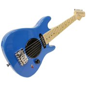 "Child's Toy 30"" Electric Guitar w/ Built-in Amp - Includes Case & Acc Kit -Blue"