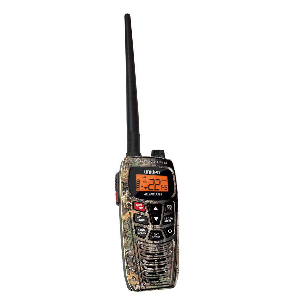 Uniden ATLANTIS 295 DUAL BAND VHF/GMRS HANDHELD CAMO