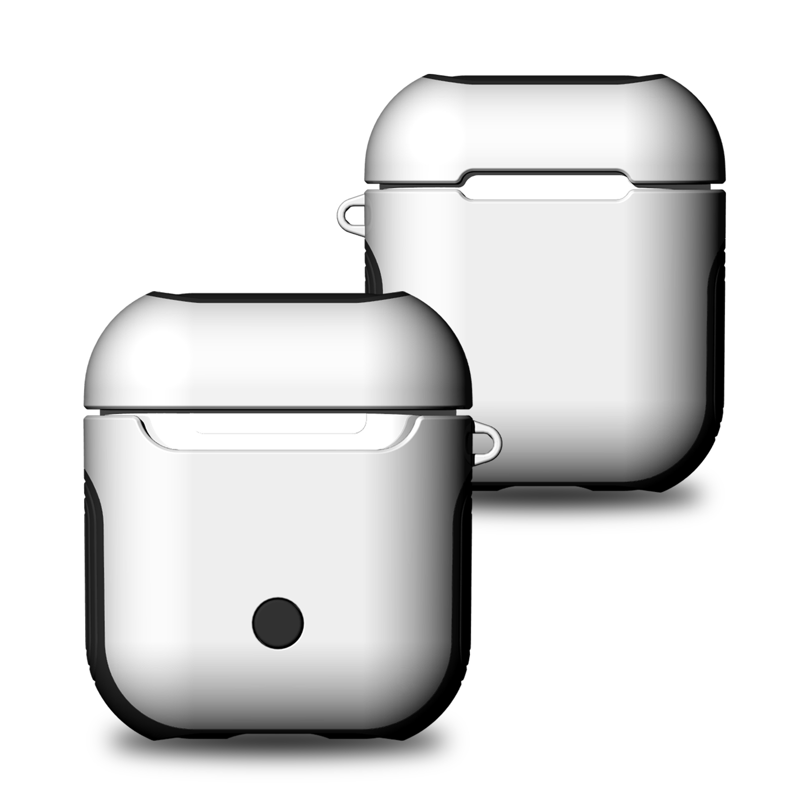 Goodest AirPods Case Protective Silicone Cover and Skin for Apple Airpods Charging Case ( 1 Pack), Silver