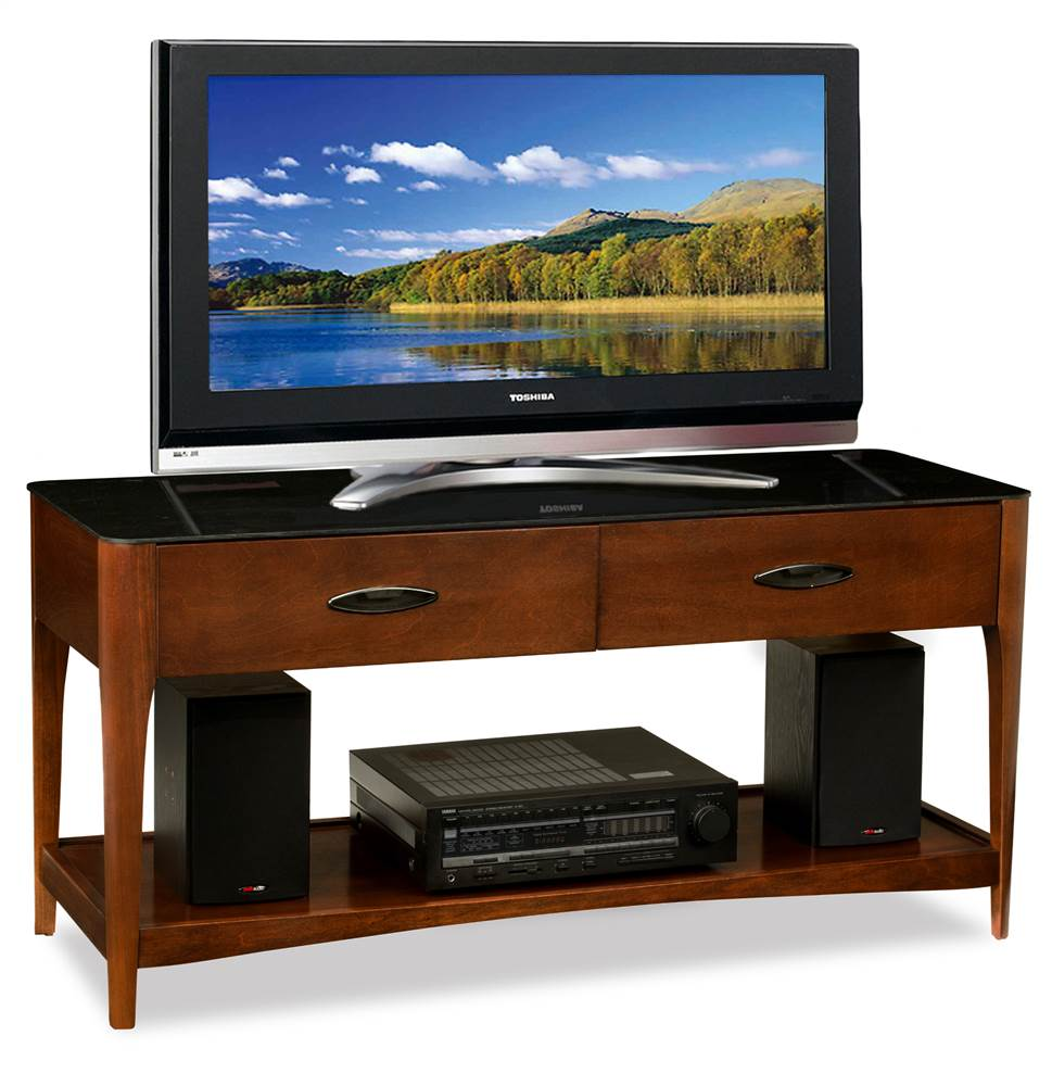 50 in. TV Console Table in Chestnut Finish