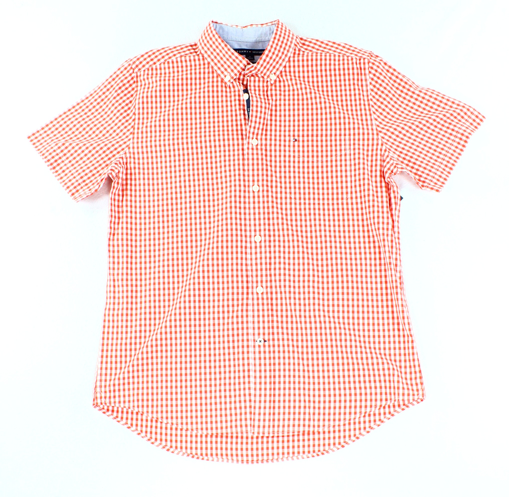 Tommy Hilfiger NEW Red Mens Size Large L Check Button Down Shirt