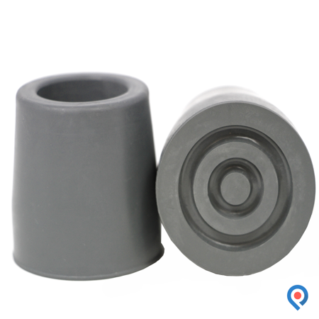 Fit Bath - Pivit Heavy-Duty Walker, Commode and Bath Bench Replacement Rubber Tips, Gray, 1 1/8