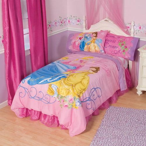 "Disney Princess ""Princess Garden"" Light Up Bedding Comforter"