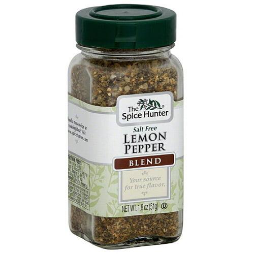 The Spice Hunter Salt Free Lemon Pepper Blend, 1.8 oz, (Pack of 6)