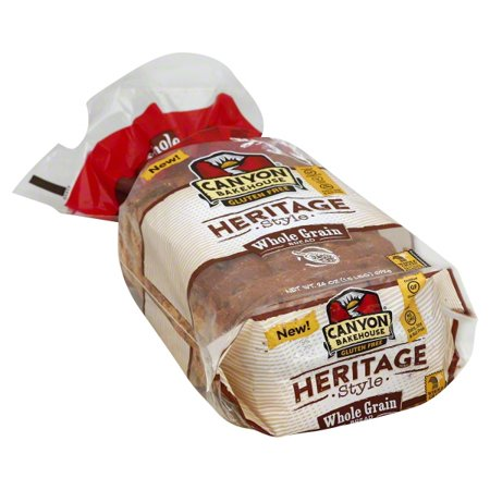 Canyon Bakehouse Heritage Style Whole Grain Gluten Free Bread, 24 oz. (Pack of (Hearty Whole Grain Bread)