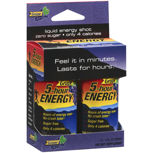 5-Hour Energy Grape Dietary Supplement, 2pk