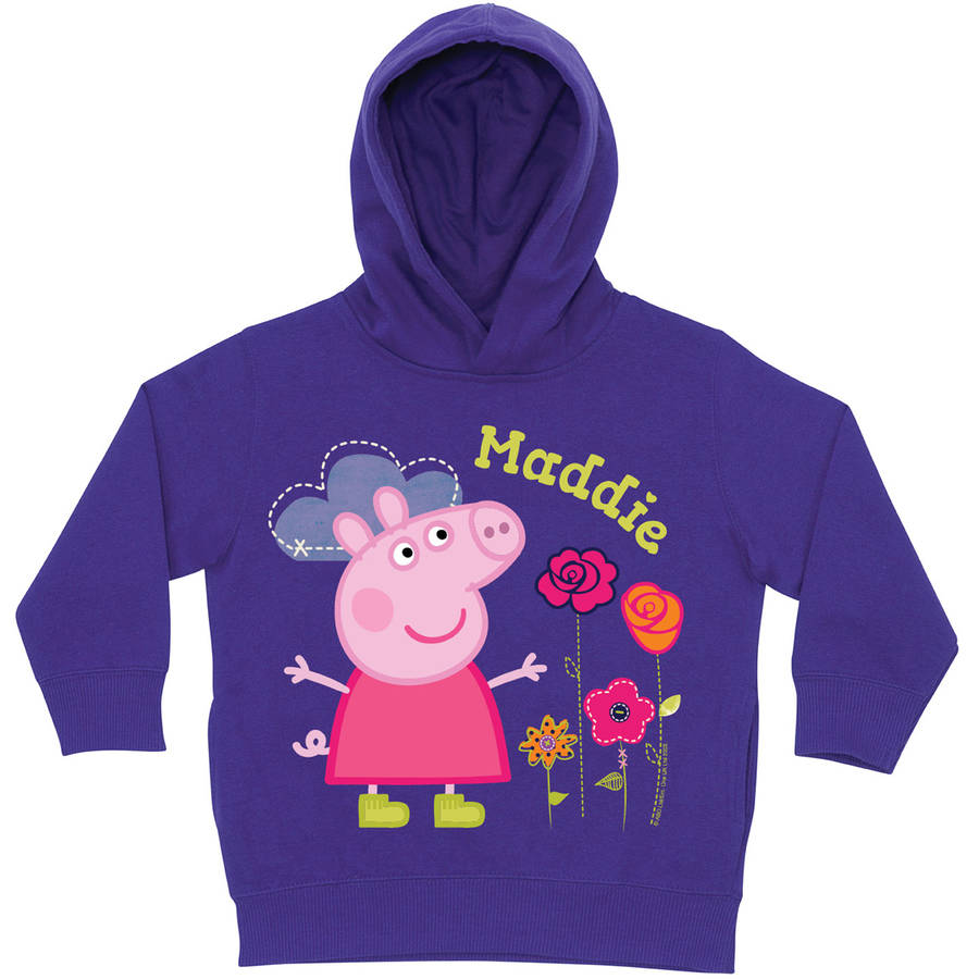 Personalized Peppa Pig Pretty Purple Toddler Girls' Hoodie