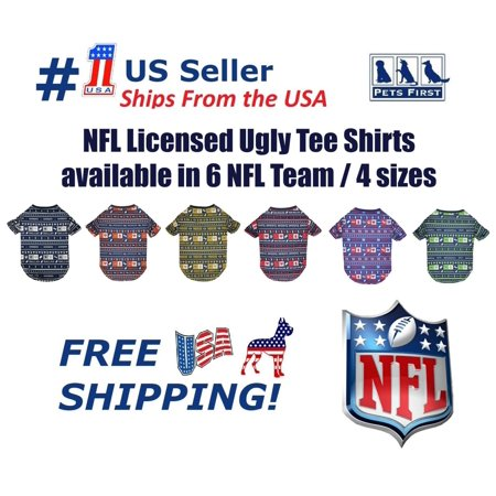Pets First NFL New England Patriots Ugly Tee Shirt for DOGS   CATS. Cutest Licensed  Pet Shirt. 4 sizes available - Walmart.com 5f1516d9b