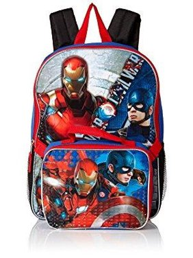 05ccafa20c91 Product Image Marvel Boys  Civil War Captain Vs. Ironman Backpack with  Lunch Kit