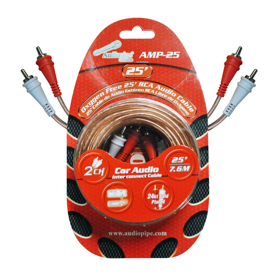 RCA CABLE 25' AUDIOPIPE OFC CLEAR INSTALLER SERIES