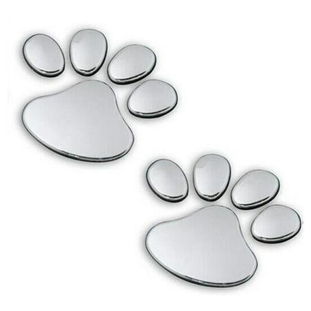 - iLH Mallroom 2PCS Pet Animal Paw Footprints Emblem Car Truck Decor 3D Sticker Decal