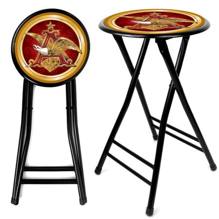 Trademark Global Anheuser Busch A   Eagle 24  Cushioned Stool  Black