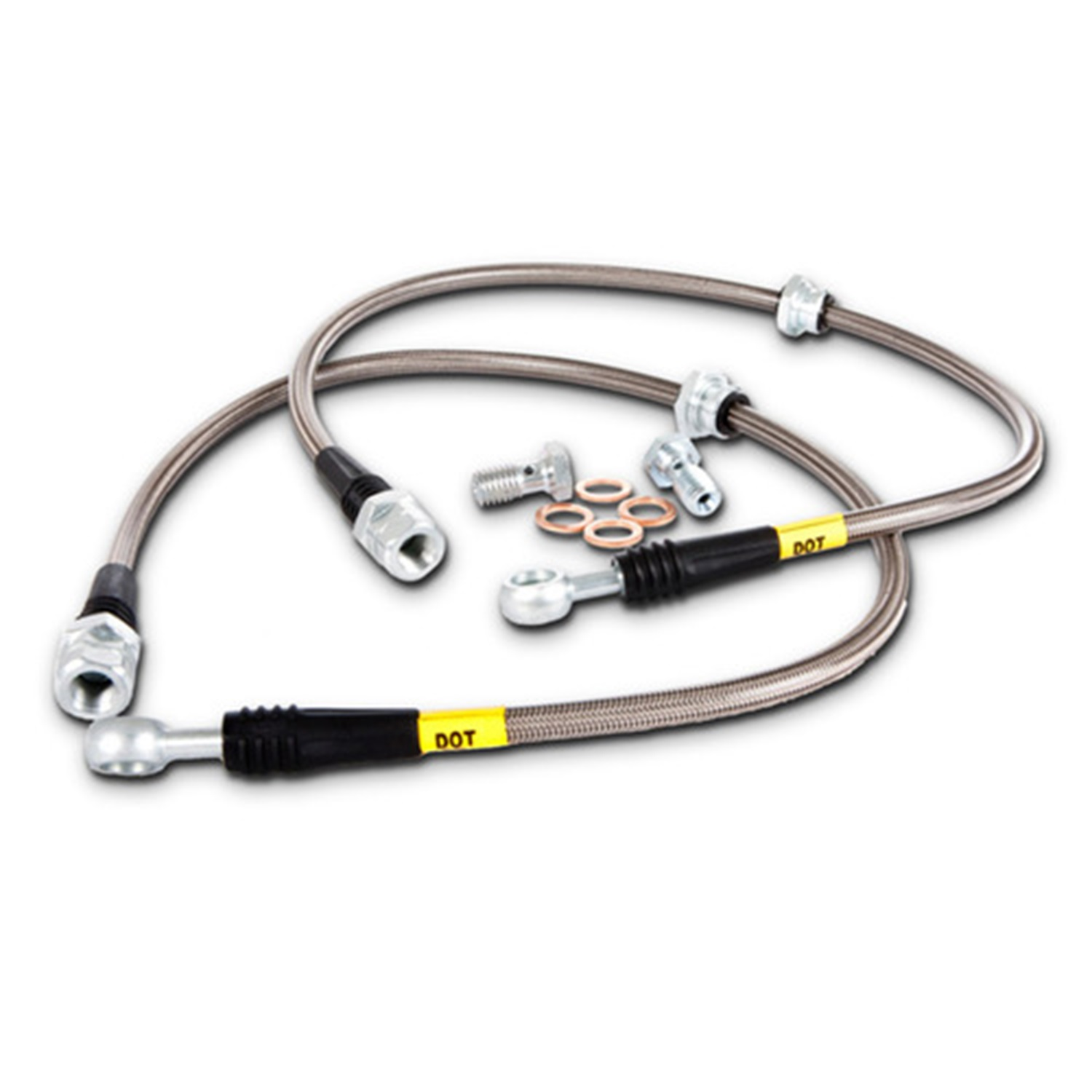 StopTech 977.33015 StopTech Sport Brake Kit; Slotted; Front And Rear; Incl. Rotors; Pads And Stainless Steel Brake Line;