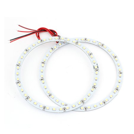 2 Pcs White Headlight 120mm 39 SMD LEDs Angel Eyes Ring Light Lamp for Car Angel Eyes Car