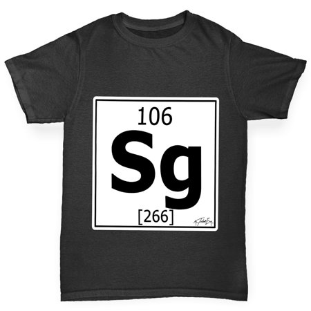 Girls T Shirt Periodic Table Element Sg Seaborgium Kids Funny