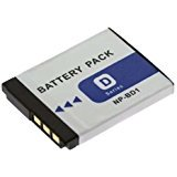 SDNPBD1 Lithium-Ion Rechargeable Battery Pack Ultra High Capacity (3.7v 800mAh) Replacement for Sony NP-BD1 &