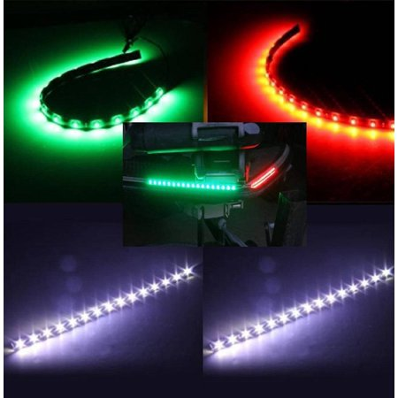 Boat Bow LED Navigation (STERN & BOW) Light Kit, Red, Green, and White Strips for Bass boats,