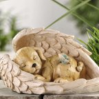 Gift Craft Polystone Dog in Wing Decor