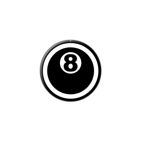 Eight Ball - Pool Billiards Lapel Hat Pin Tie Tack Small Round